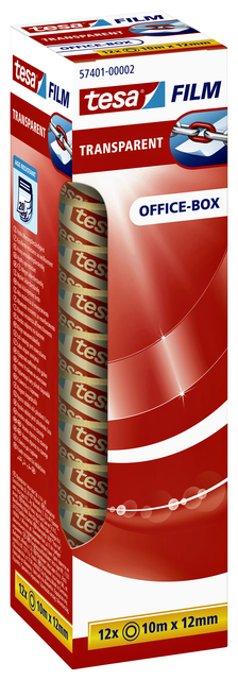 Plakband Tesa film 12mmx10m transparant