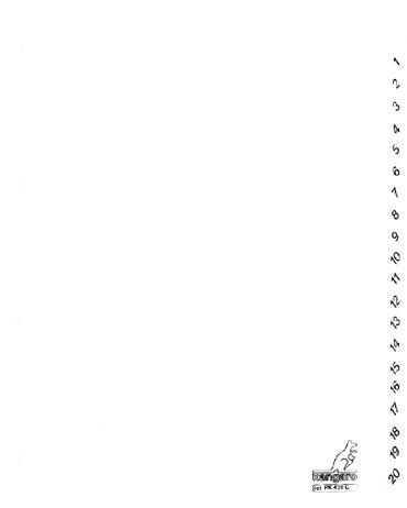 Tabbladen Kangaro 4-gaats PK420C 1-20 genummerd wit karton