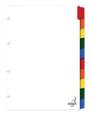 Tabbladen Kangaro 4-gaats PK410 10-delig karton wit