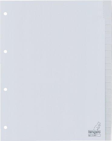 Tabbladen Kangaro 4-gaats G420F 20-delig+venster grijs PP
