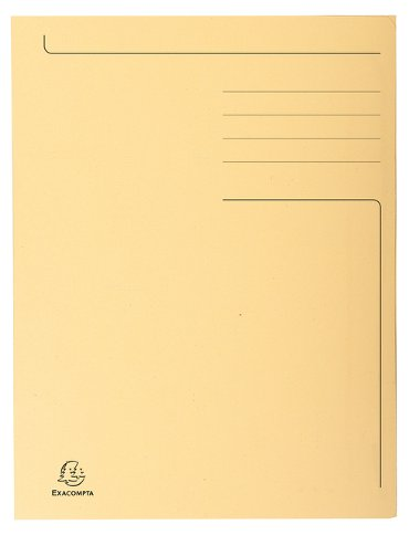 Dossiermap Exacompta Forever A4 3 kleppen 280gr ivoor