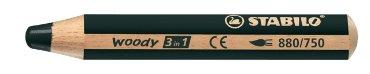 Kleurpotloden STABILO Woody 880/750 zwart