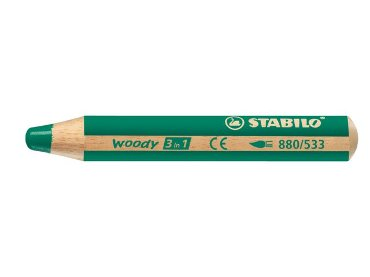 Kleurpotlood Stabilo Woody 880 3 in 1 groen