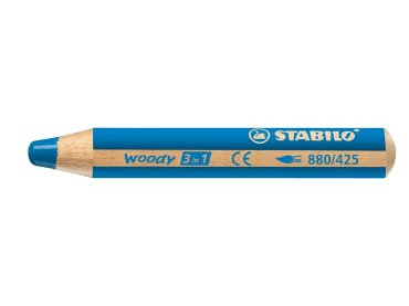 Kleurpotlood Stabilo Woody 880 3 in 1 middelblauw