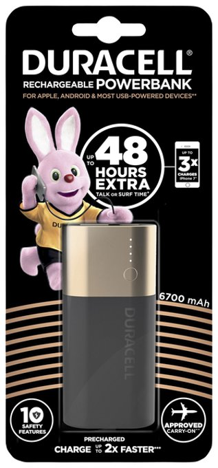 Powerbank Duracell 6700mAh