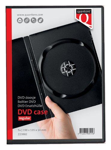 Dvd doos Quantore 7mm leeg zwart