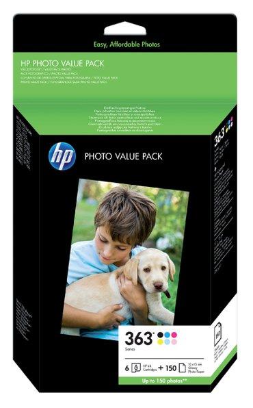 Inktcartridge HP Q7966EE 363 150vel 10x15 + 6 cartridges