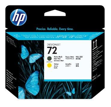 Printkop HP C9384A 72 geel + mat zwart