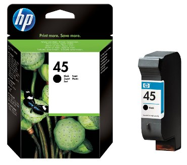 HP inkjet cartridge no. 45 zwart - 42 ml.