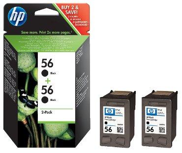 Inkcartridge HP C9502A 56 zwart 2x