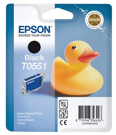 Inktcartridge Epson T0551 zwart