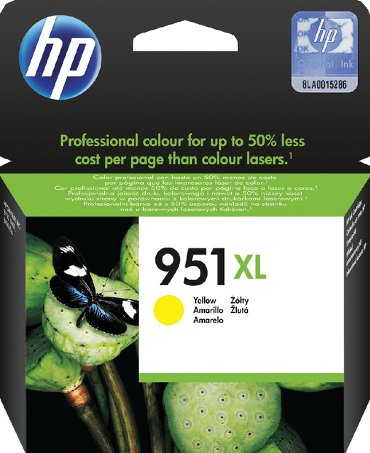 Inkcartridge HP CN048AE 951XL geel HC
