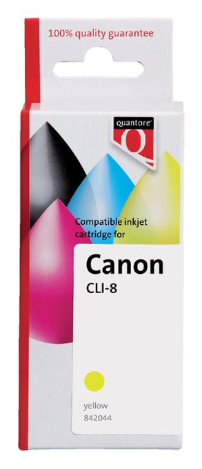 Inktcartridge Quantore Canon CLI-8 geel+chip