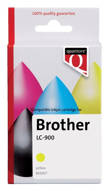 Inktcartridge Quantore Brother LC-900 geel