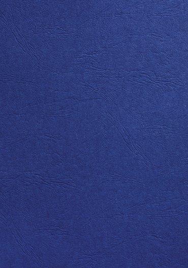 Voorblad GBC A4 lederlook koningsblauw 100stuks