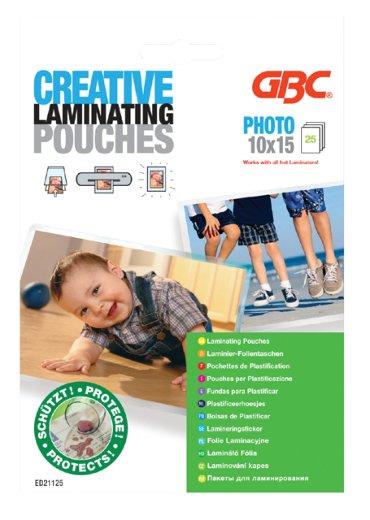 Lamineerhoes GBC 100x150mm fotohoes 2x125micron 25stuks