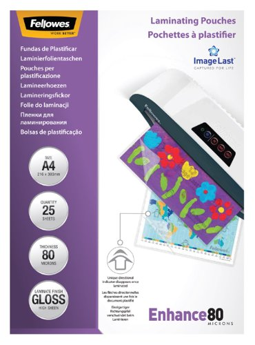 Lamineerhoes Fellowes A4 2x80micron 25stuks