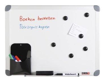 Whiteboard Desq 60x90cm in kunststof draagtas
