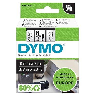 Labeltape Dymo 40913 D1 720680 9mmx7m zwart op wit