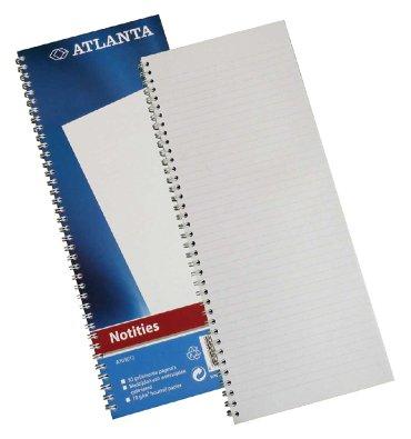 Smalfolio Atlanta 100blz gelinieerd blauw spiraal