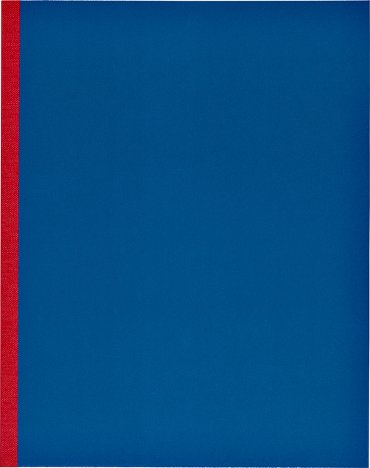 Kasboek 83x135mm 1 kolom zwart met rode rug