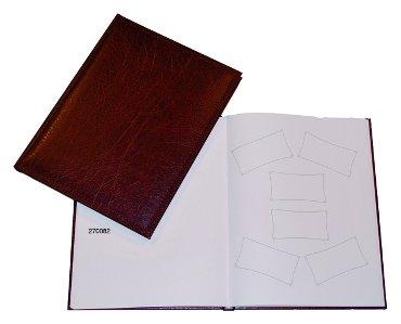 Receptiealbum gestikt 205x260mm rood