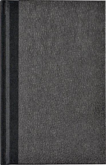 Notitieboek Octavo met alfabet 103x165mm 192blz gelinieerd zwart gewolkt