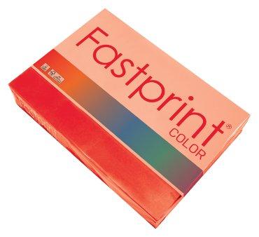 Fastprint color papier, formaat a4, 80 grams, felrood (500 vel)