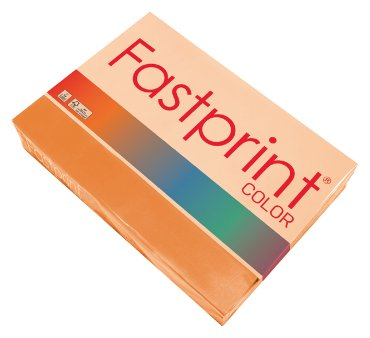 Fastprint color papier, formaat a4, 80 grams, oranje (500 vel)