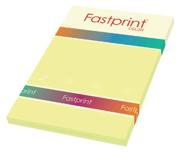 Fastprint color papier, formaat a4, 80 grams, kanariegeel (100 vel)