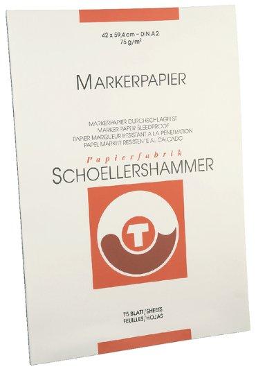 Markerblok Schoellershammer A2 75gr wit