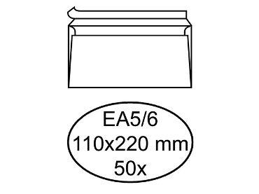 Envelop bank EA5/6 110x220mm zelfklevend wit 50stuks