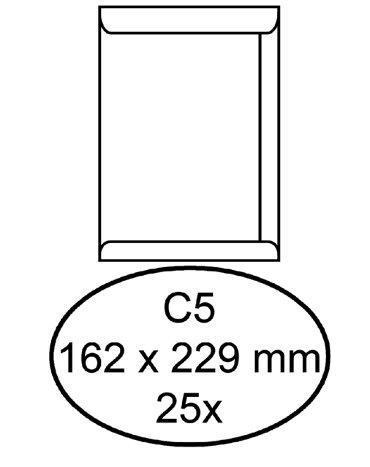 Envelop Hermes akte C5 162x229mm zelfklevend wit 25stuks