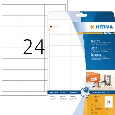 Etiket Herma 4820 66x33.8mm wit 600stuks