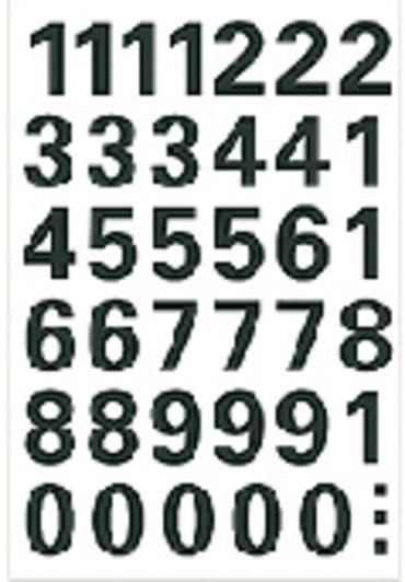 Etiket Herma 4164 15mm getallen 0-9 zwart