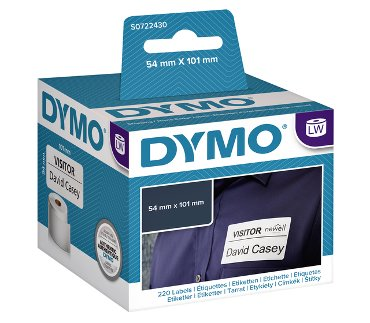 Etiket Dymo 99014 labelwriter 54x101mm badgelabel 220stuks