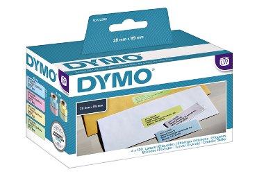 Etiket Dymo 99011 labelwriter 28x89mm assorti 130stuks