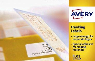 Frankeeretiket Avery Zweckform FLO1 140x38mm 1000stuks