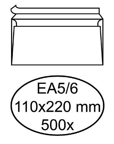 Envelop Quantore bank EA5/6 110x220mm zelfklevend wit 500st.