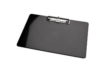 Klembord LPC A4 dwars met kopklem zwart