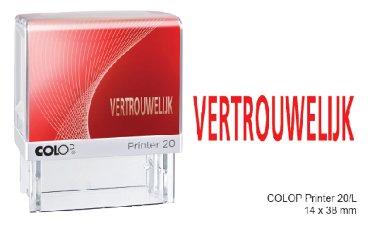 Tekststempel met tekst VERTROUWELIJK, kleur rood