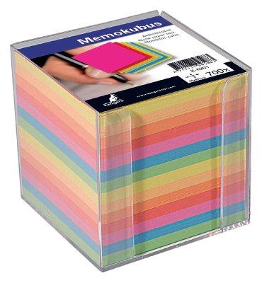 Memokubus + inhoud 90x90mm 700v assorti kleuren