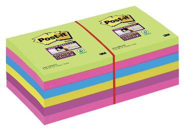 Memoblok 3M Post-it 654-SUC Super Sticky rainbow