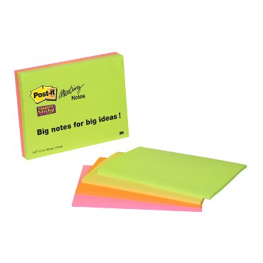 Memoblok 3M Post-it 6845-SSP Super Sticky 149x200mm assorti