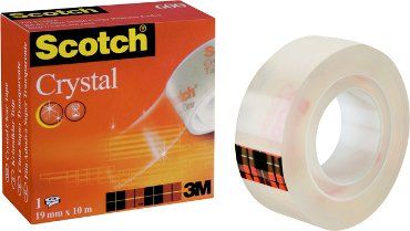 Plakband Scotch 600 19mmx10m Crystal Clear
