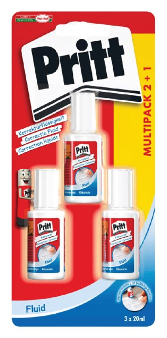 Correctievloeistof Pritt Correct-it 20ml 2+1 gratis blister