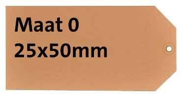 Label HF2 nr0 200gr 25x50mm chamois 1000stuks
