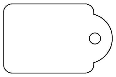 Label Apli karton nr387 13x20mm wit 1000stuks