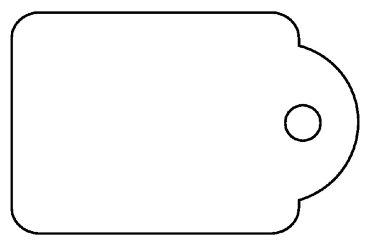 Label Apli karton nr389 18x29mm wit