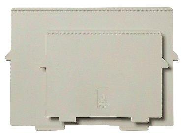 Scheidingsplaat kaartenbak Exacompta A4 dwars grijs